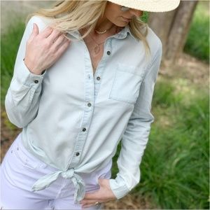 Lite Denim Button Down Shirt